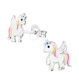 KAYA sieraden Zilveren kinderoorbellen 'Unicorn'