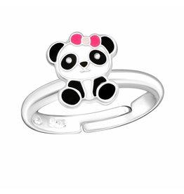 KAYA sieraden Zilveren kinderring 'Panda'