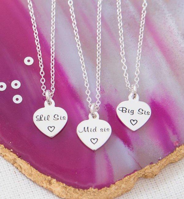 KAYA sieraden Zilveren tekst bedels voor armband of ketting