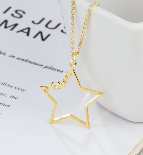 Gegraveerde sieraden Naamketting 'Written in the Stars'