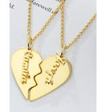 Gegraveerde sieraden Name Necklace 'Claudia' in the name of your choice - Copy - Copy