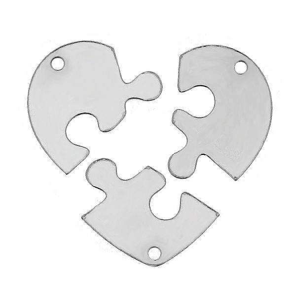 3 silver chains break hearts for girlfriends, sisters or mother and two daughters