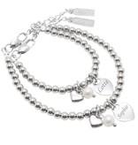 Bracelet 'Cute Balls' Engrave Heart & Pearl & Heart - Copy - Copy