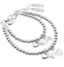 KAYA Set armbanden 'Cute Balls' stainless steel