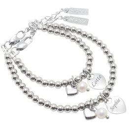Set armbanden 'Cute Balls' stainless steel
