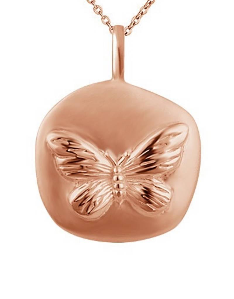 KAYA sieraden ★ SALE ★ Zilveren Ketting 'Munt' met Vlinder