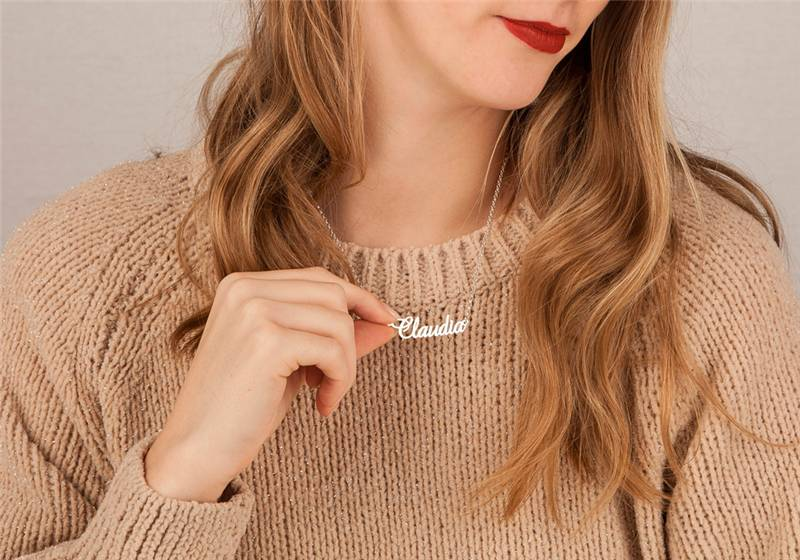 Name Necklace 'Claudia' in the name of your choice