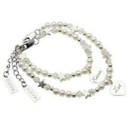 KAYA Personalized Mother and Daughter Set (Silver Charm)