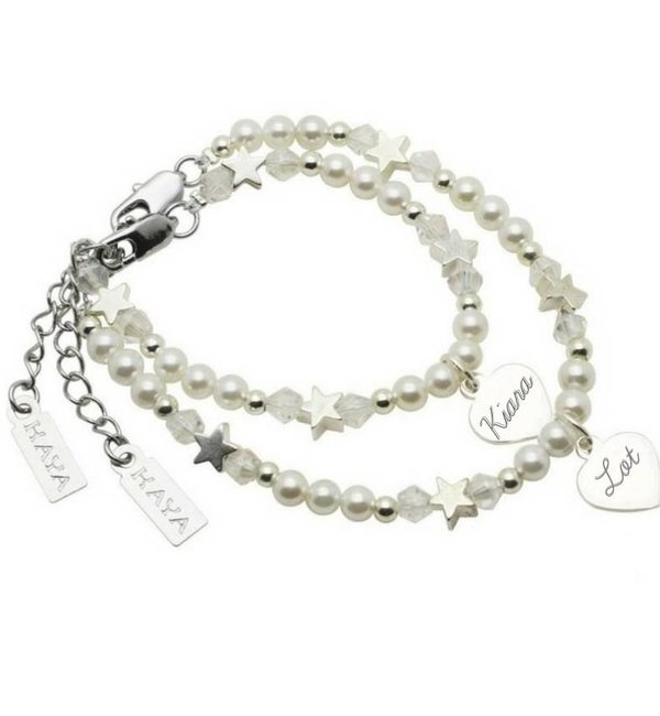 KAYA sieraden Personalized Mother and Daughter armbandenset
