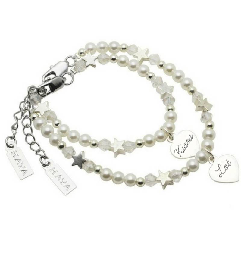 Personalized Mother and Daughter armbandenset