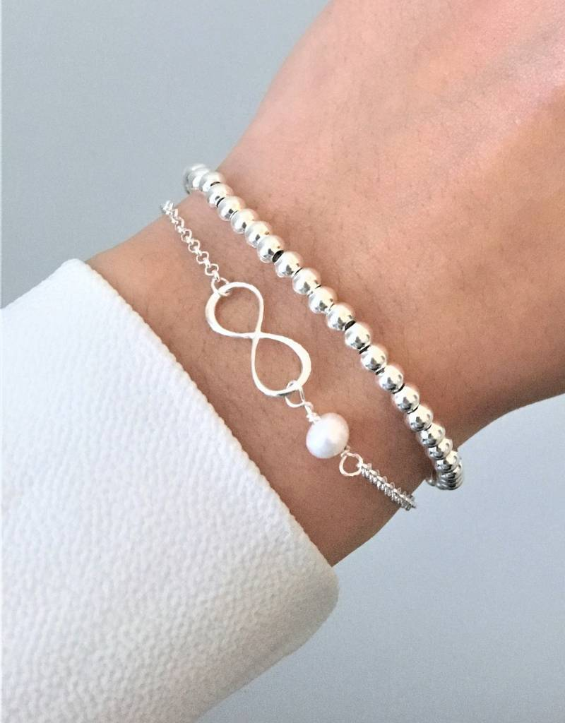 KAYA sieraden Zilveren 3 Generatie Set Armbanden 'Speechless'