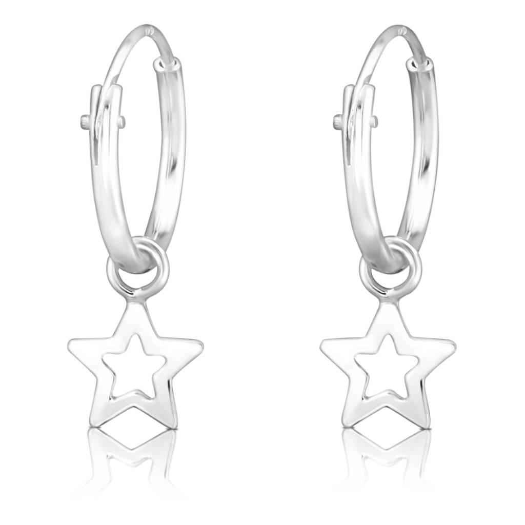 KAYA sieraden Zilveren creolen 'Starry Night'