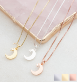 KAYA sieraden Gift box with necklace 'I love you to the Moon & Back'