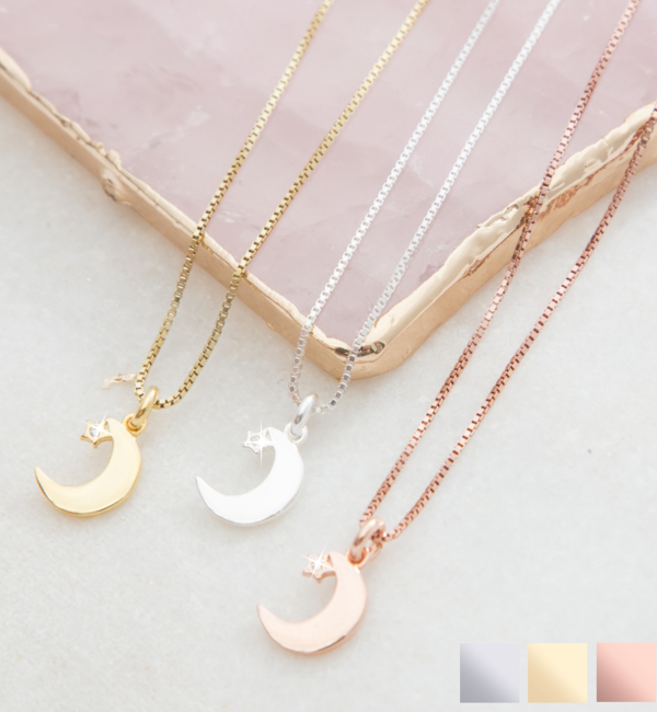 KAYA sieraden Cadeaudoosje met ketting 'I love you to the Moon & Back'