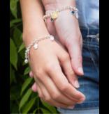 KAYA Trendy zilveren mom & me jasseron armbanden
