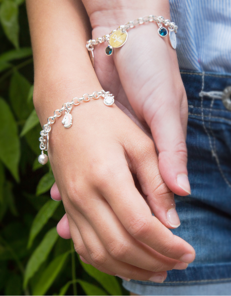 KAYA sieraden Trendy silver bracelets mom & me jasseron