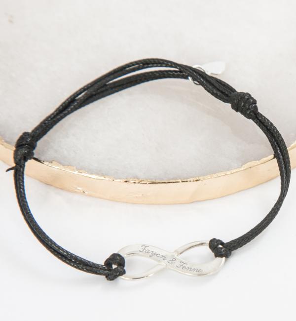 KAYA sieraden Adjustable leather bracelet 'infinity'