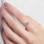 Sieraden Zilveren Ring met Vingerafdruk 'Disc'