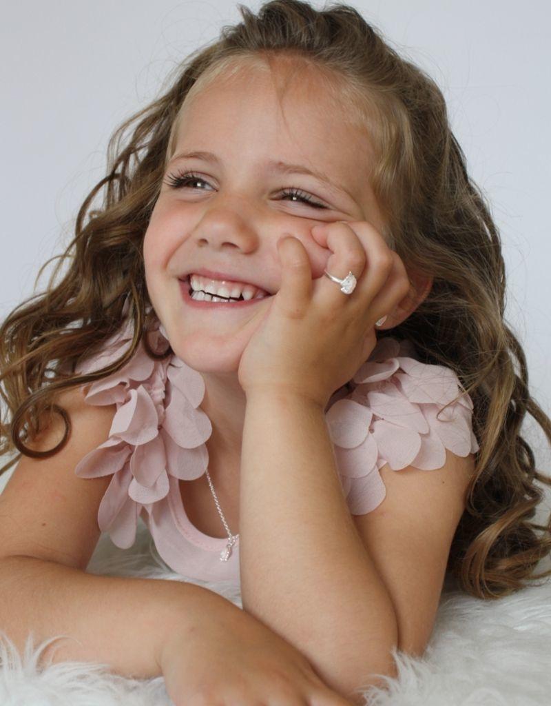 KAYA sieraden Zilveren kinderketting 'Unicorn' roze