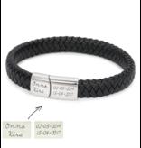 KAYA sieraden Black bracelet for men 'Leather' - Copy - Copy - Copy - Copy - Copy
