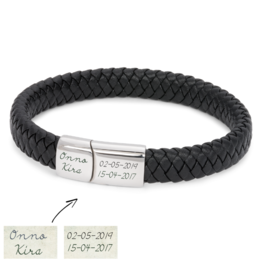 KAYA sieraden Black bracelet for men - Copy - Copy - Copy - Copy - Copy