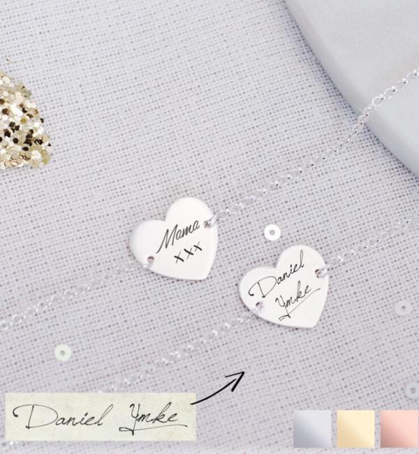 Sieraden graveren Bracelet with own handwriting - Copy