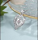 Gepersonaliseerde sieraden Zilveren Gepersonaliseerde Ring 'Baby Feet' met Geboortestenen en Gravure