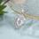 Gepersonaliseerde sieraden Necklace with birth stones 'two hearts' - Copy - Copy