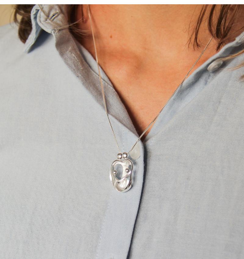 KAYA sieraden Zilveren ketting 'We are Family'  mama &4 kids