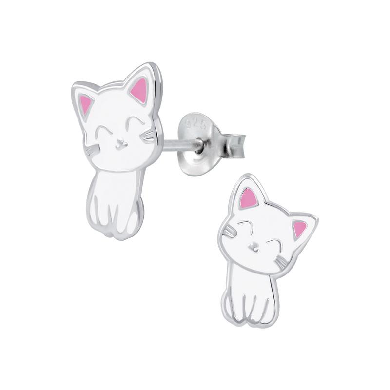 KAYA sieraden Zilveren Kinderoorbellen 'Kittens'
