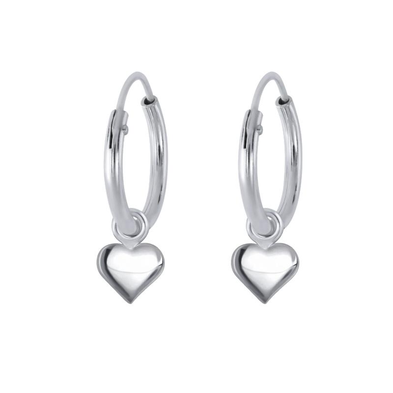 KAYA sieraden Zilveren Oorbellen 'Loving Heart'