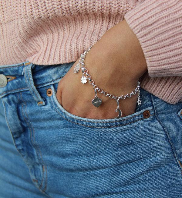Sieraden graveren Silver Chain Bracelet ★ ★ additional personal - Copy - Copy