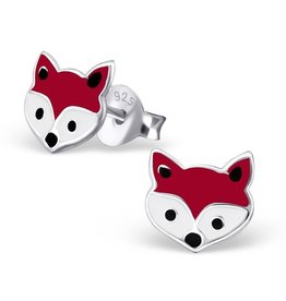 KAYA Silver earrings 'foxes'