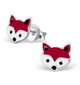 Silver earrings 'foxes'