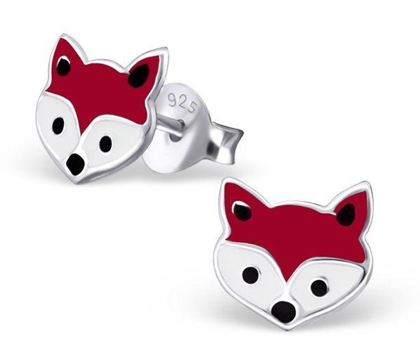 KAYA Silver earrings 'foxes'