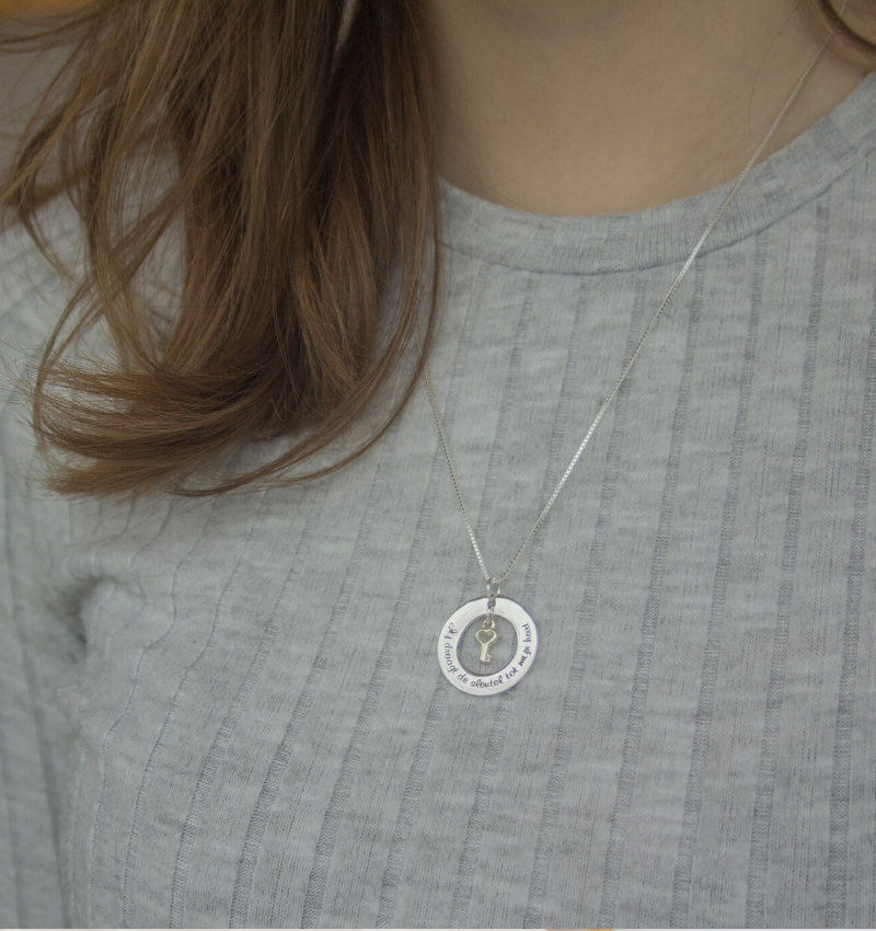 """KAYA sieraden Silver necklace """"The love between mother and daughter ... ' - Copy"""