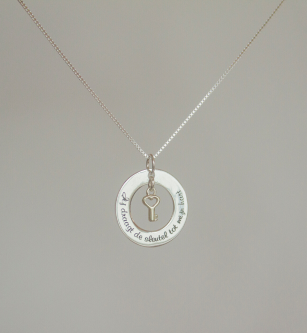 "KAYA sieraden Silver necklace ""The love between mother and daughter ... ' - Copy"