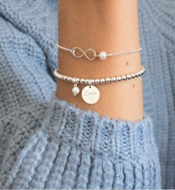 "KAYA sieraden Silver set ""You are loved for Infinity ' - Copy"