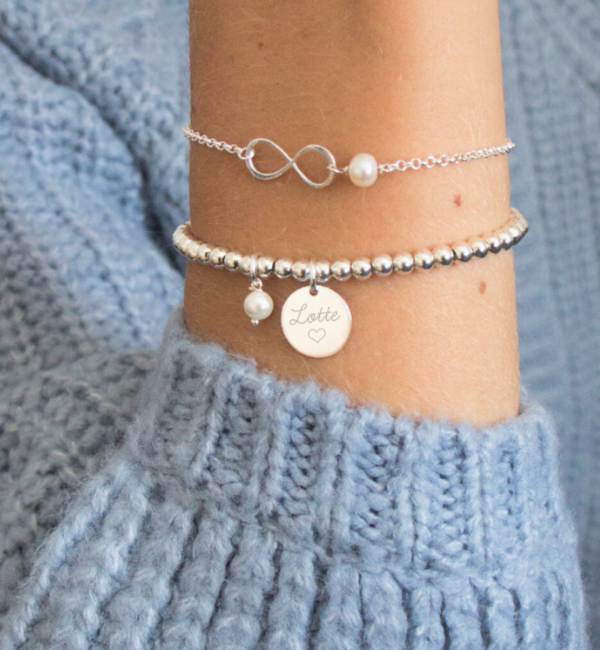"KAYA sieraden Silver set ""You are loved for Infinity ' - Copy - Copy - Copy"