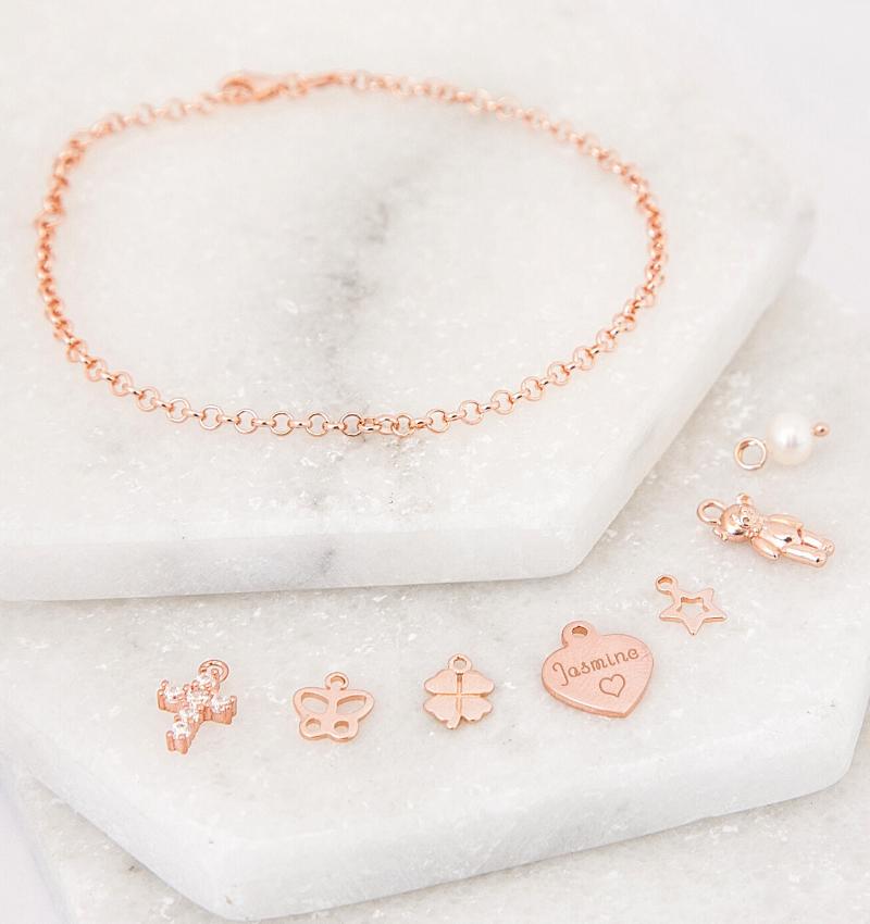 KAYA sieraden Armband 'Fijne Jasseron' met bedels naar keuze
