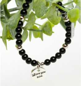 KAYA sieraden Jongens Armband 'Love you Son'