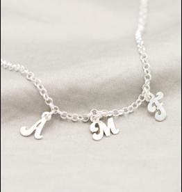 KAYA sieraden Silver Necklace 'Disc & Birthstone' - Copy - Copy - Copy