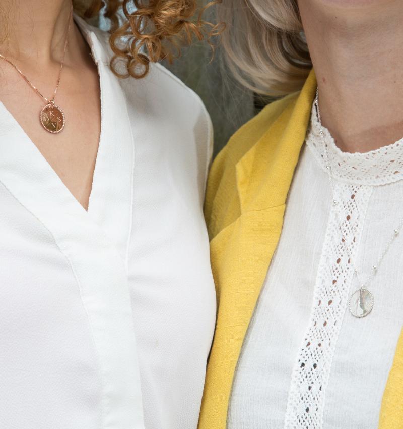 KAYA sieraden Silver Necklace '' Disc & Swarovki® Birthstone ' - Copy - Copy