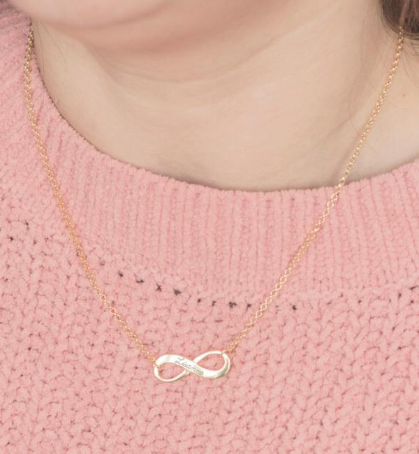 Sieraden graveren Infinity Silver kids necklace 'Forever'