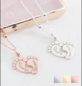 Sieraden Birthstone necklace 'Baby feet' - Copy