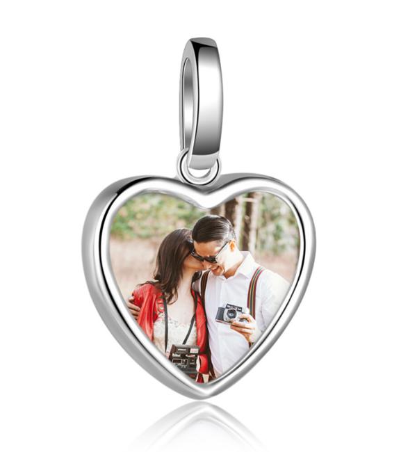 Gepersonaliseerde sieraden Zilveren Ketting met Foto 'Heart'