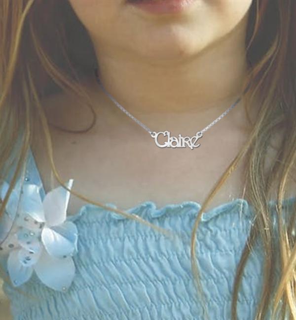 Sieraden Zilveren Naamketting Kind 'Persoonlijk'