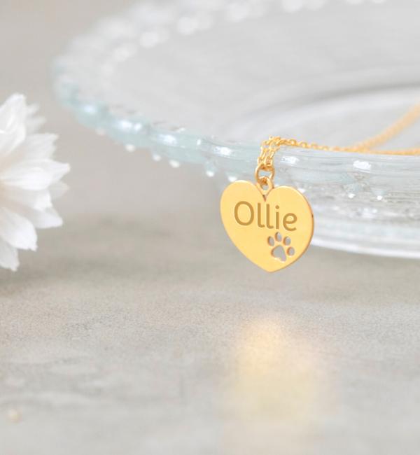 Sieraden graveren Silver necklace with engraving charm 'Tiffany style' - Copy - Copy - Copy - Copy