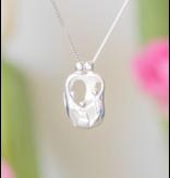 KAYA sieraden Zilveren Ketting 'We Are Family' - Ouders & 3 Kids