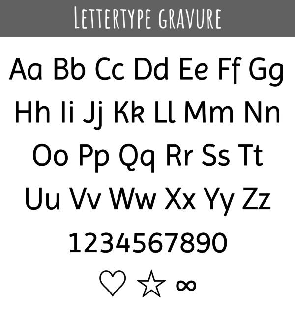 KAYA sieraden Silver Graveerbedel ★ ★ additional personal - Copy - Copy - Copy - Copy
